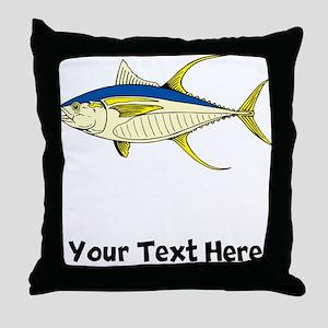 Tuna Fish (Custom) Throw Pillow