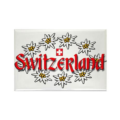 Swiss Edelweiss Rectangle Magnet
