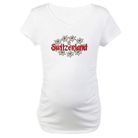 Swiss Edelweiss Maternity T-Shirt