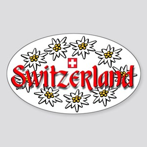 Swiss Edelweiss Oval Sticker