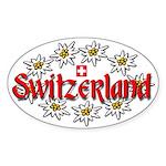 Swiss Edelweiss Oval Sticker