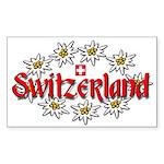Swiss Edelweiss Rectangle Sticker