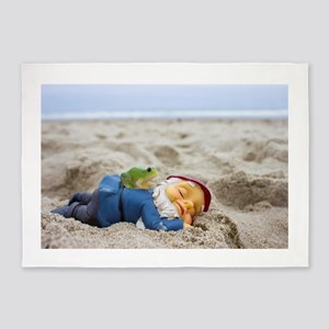 Napping Gnome 5'x7'Area Rug