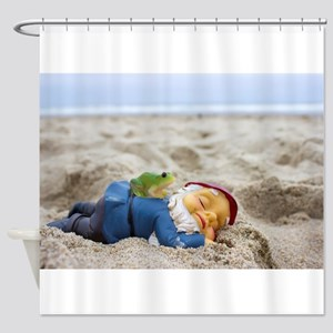 Napping Gnome Shower Curtain