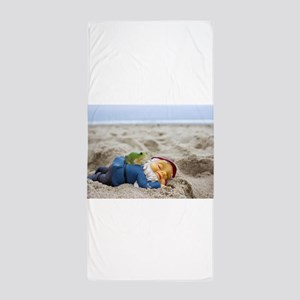 Napping Gnome Beach Towel
