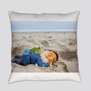 Napping Gnome Everyday Pillow