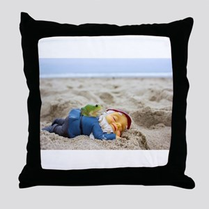 Napping Gnome Throw Pillow