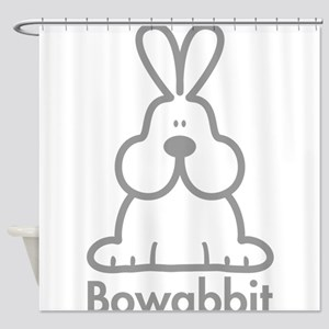 22 gray outline Shower Curtain