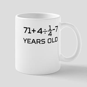 80th Birthday Algebra Equation Mugs