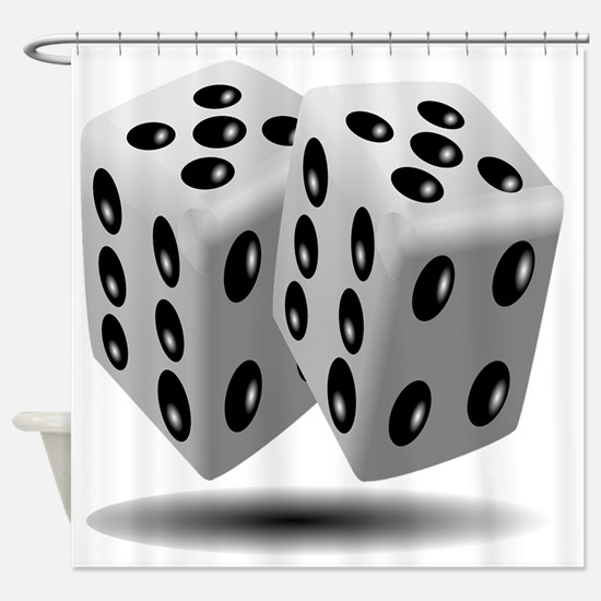 Funny Dice Shower Curtain