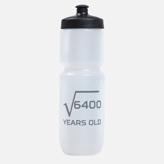 Square Root 80 Years Old Sports Bottle