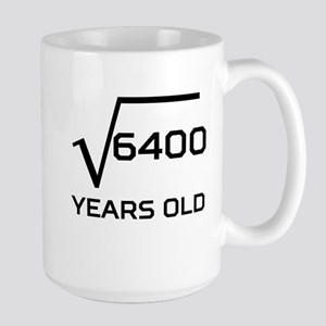 Square Root 80 Years Old Mugs