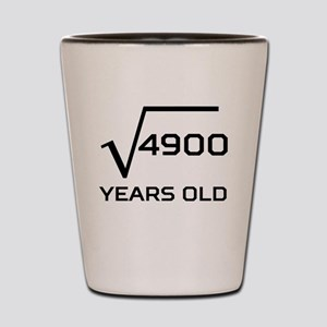 Square Root 70 Years Old Shot Glass