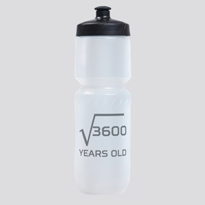 Square Root 60 Years Old Sports Bottle