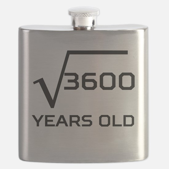 Square Root 60 Years Old Flask