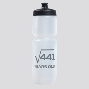 Square Root 21 Years Old Sports Bottle