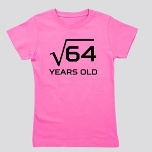 Square Root 8 Years Old Girl's Tee