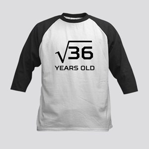 Square Root 6 Years Old Baseball Jersey