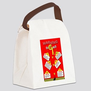 Warning Signs Canvas Lunch Bag