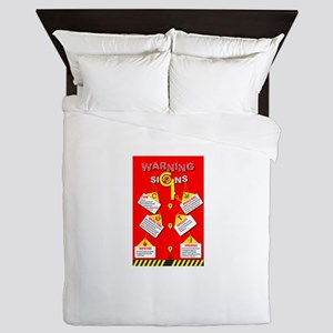 Warning Signs Queen Duvet