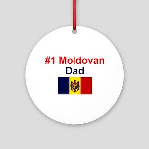 Moldovan #1 Dad Keepsake Ornament