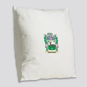 O'Connell Coat of Arms - Famil Burlap Throw Pillow