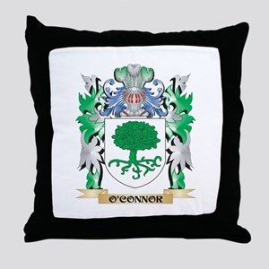 O'Connor Coat of Arms - Family Crest Throw Pillow