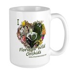 I Heart Florida's Wild Orchids Large Mugs