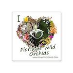 I Heart Florida's Wild Orchids Square Sticker