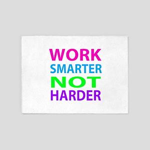 Work Smarter Not Harder 5'x7'Area Rug