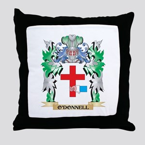 O'Donnell Coat of Arms - Family Crest Throw Pillow
