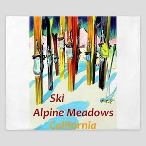 Ski Alpine Meadows California Travel King Duvet