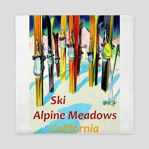 Ski Alpine Meadows California Travel Queen Duvet