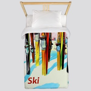 Ski Alpine Meadows California Travel Twin Duvet