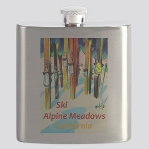 Ski Alpine Meadows California Travel Flask