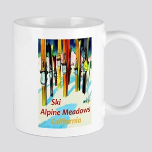 Ski Alpine Meadows California Travel Mugs