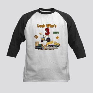 Construction Vehicles 3rd Birthday Baseball Jersey