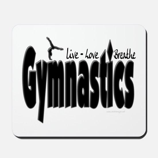 Live Love Breathe Gymnastics Mousepad
