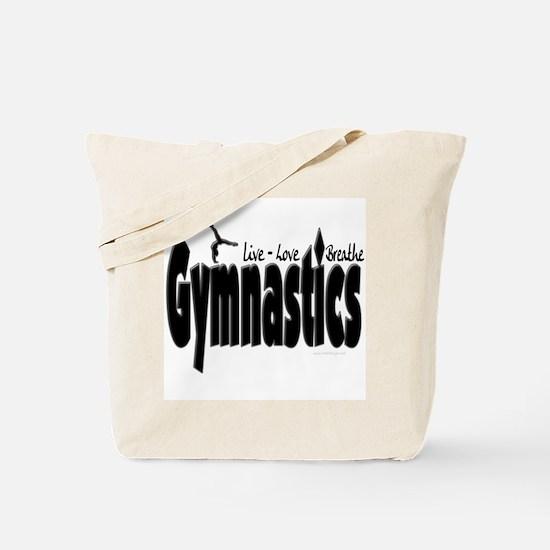 Live Love Breathe Gymnastics Tote Bag