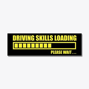 Driving Skills Loading Car Magnet 10 x 3