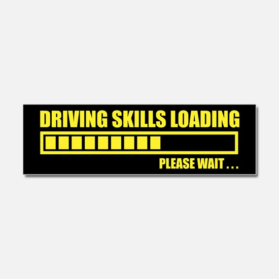 Driving Skills Loading Car Magnet 10 x 3