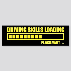 Driving Skills Loading Bumper Sticker