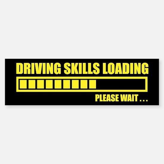 Driving Skills Loading Bumper Bumper Bumper Sticker