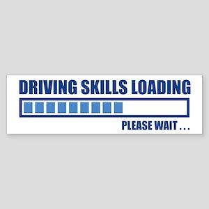 Driving Skills Loading Bumper Sticker