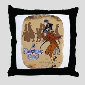 Tiny Tim and Bob Cratchit Throw Pillow