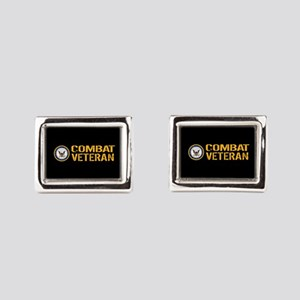 U.S. Navy: Combat Veteran (B Rectangular Cufflinks