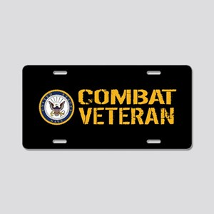 U.S. Navy: Combat Veteran ( Aluminum License Plate
