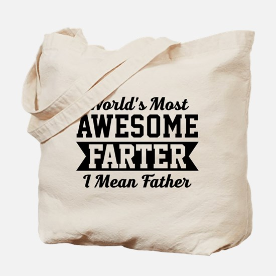 Awesome Farter Funny Dad Tote Bag