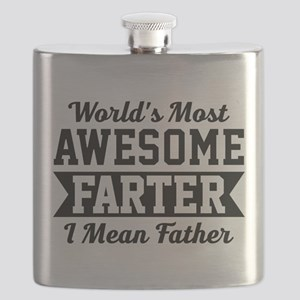 Awesome Farter Funny Dad Flask