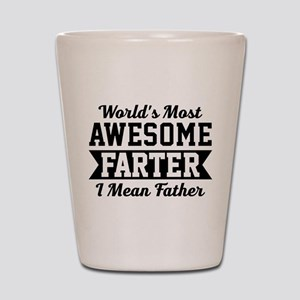 Awesome Farter Funny Dad Shot Glass